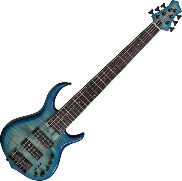 Solid body electric bass Marcus miller M7 Alder 6ST 2nd Gen - Transparent blue