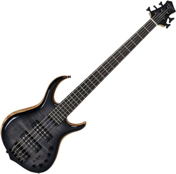 Solid body electric bass Marcus miller M7 Swamp Ash 5ST Fretless 2nd Gen (No Bag) - Transparent black burst