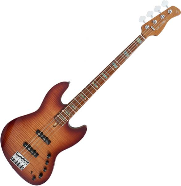 Solid body electric bass Marcus miller V10 Swamp Ash 4ST 2nd Gen (No Bag) - Tobacco sunburst