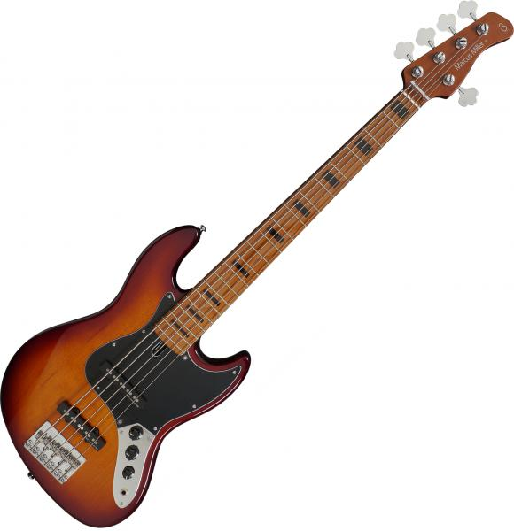 Solid body electric bass Marcus miller V5 Alder 5ST - Tobacco sunburst