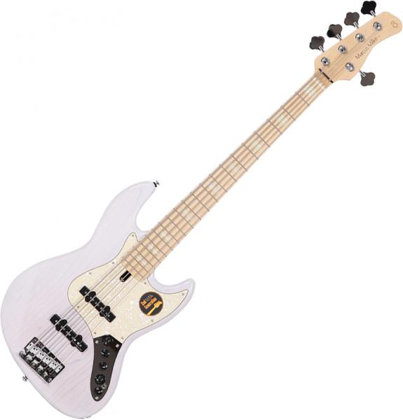 Solid body electric bass Marcus miller V7 Swamp Ash 5ST 2nd Gen (No Bag) - White blonde