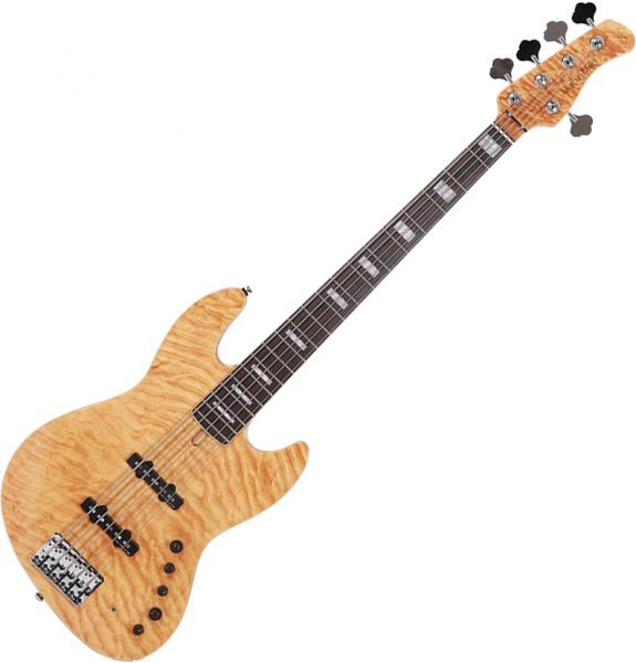 Solid body electric bass Marcus miller V9 Swamp Ash 5ST 2nd Gen (No Bag) - Natural