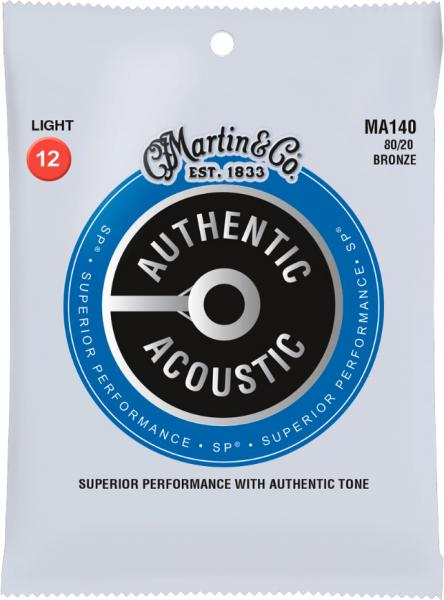 Acoustic guitar strings Martin Authentic Acoustic (6) MA140 Bronze 12-54 - Set of strings