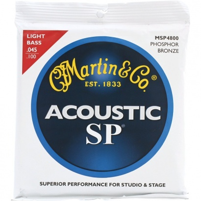 Acoustic bass strings Martin Bass Acoustic MSP4800 Light Phosphore Bronze SP 045-100