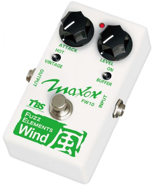 Overdrive, distortion & fuzz effect pedal Maxon FW10 Fuzz Elements Wind