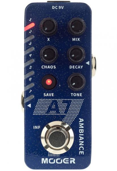 Modulation, chorus, flanger, phaser & tremolo effect pedal Mooer A7 Ambience Reverb