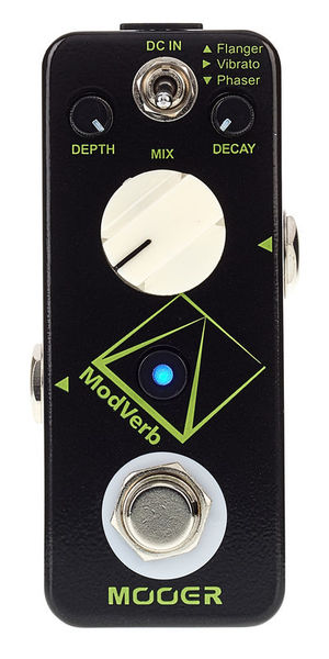 Modulation, chorus, flanger, phaser & tremolo effect pedal Mooer MODVERB