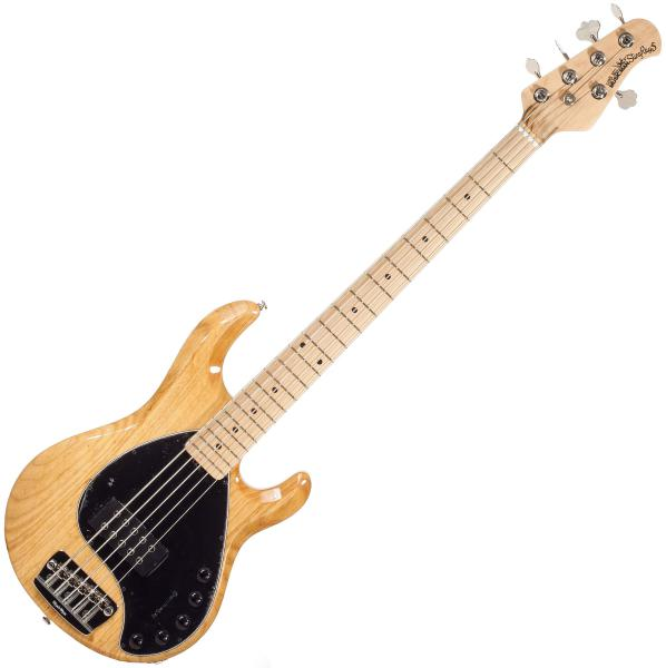 music man stingray bass 5 h piezo 3eq mn natural solid body electric bass natural star 39 s music. Black Bedroom Furniture Sets. Home Design Ideas