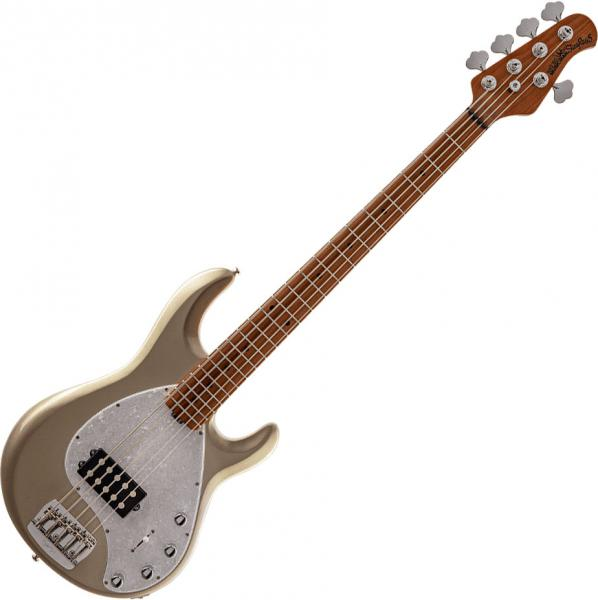 Solid body electric bass Music man StingRay5 Special H MN - Ghostwood