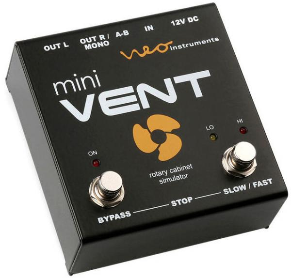 Modulation, chorus, flanger, phaser & tremolo effect pedal Neo instruments Mini Vent