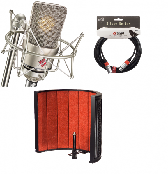 Studio recording and live microphone Neumann TLM 103 Studio Set + X-TONE X-Screen Pro + X-TONE X2001-6M - Xlr Xlr 6M