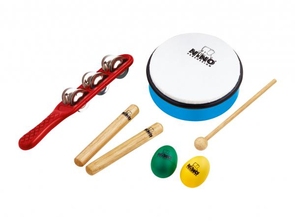 Percussion set for kids Nino percussion                Nino Set 3 Rhythm Set