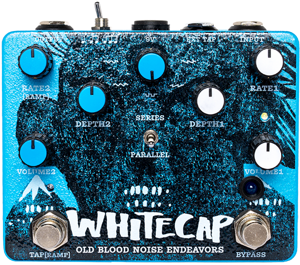Modulation, chorus, flanger, phaser & tremolo effect pedal Old blood noise Whitecap Asynchronous Dual Tremolo