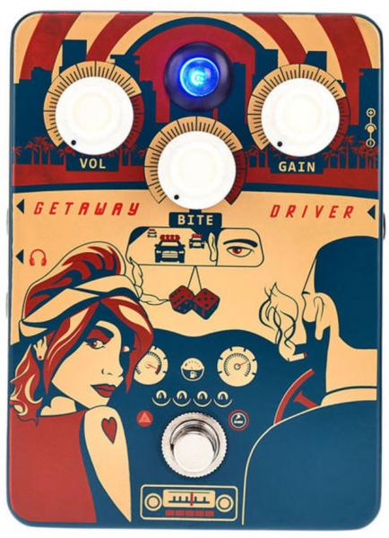 Overdrive, distortion & fuzz effect pedal Orange Getaway Driver