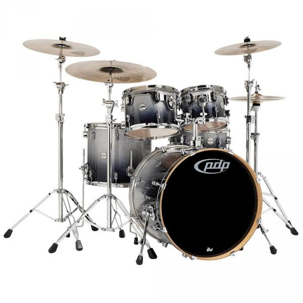 Strage drum-kit Pdp Concept Maple Stage 22 - 5 shells - Black sparkle fade