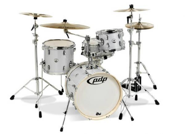 Jazz drum kit Pdp Shellset New Yorker BeBop 18 - 4 shells - White diamant