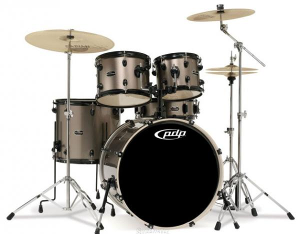 Strage drum-kit Pdp PD-802602 Mainstage Stage 22 - 5 shells - Bronze metallic black hw