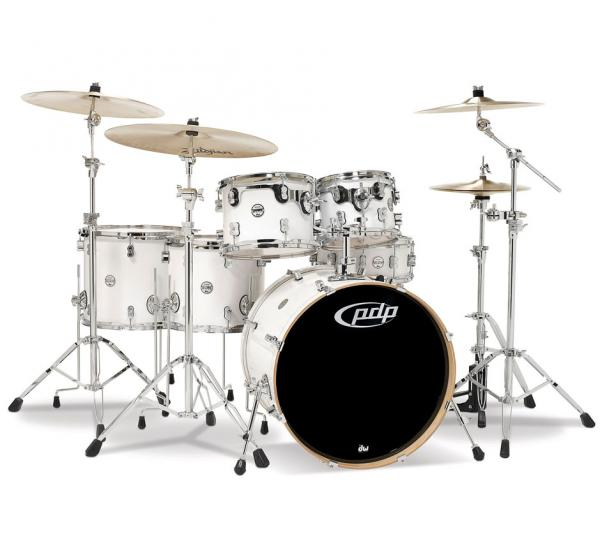 Strage drum-kit Pdp PD806065 Concept Maple 6 Futs - 6 shells and more - pearlescent white
