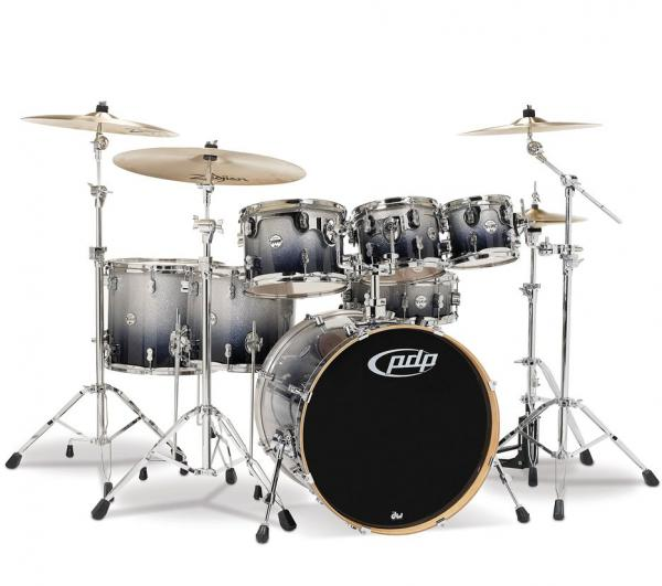 Strage drum-kit Pdp PD806069 Concept Maple - 6 shells and more - Silver to black sparkle fade