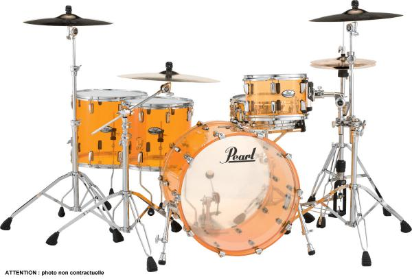 Rock drum kit Pearl CRB524FPC-732 Crystal Beat 2TB Rock 22 - 4 shells - Tangerine glass
