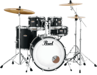 Fusion drum kit Pearl DMP925SC-227 Decade Maple Rock 22 - 5 shells - Satin slate black