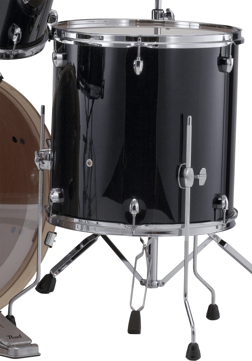 Pearl Export Floor Tom 14 X 14 Jet Black Tom Black