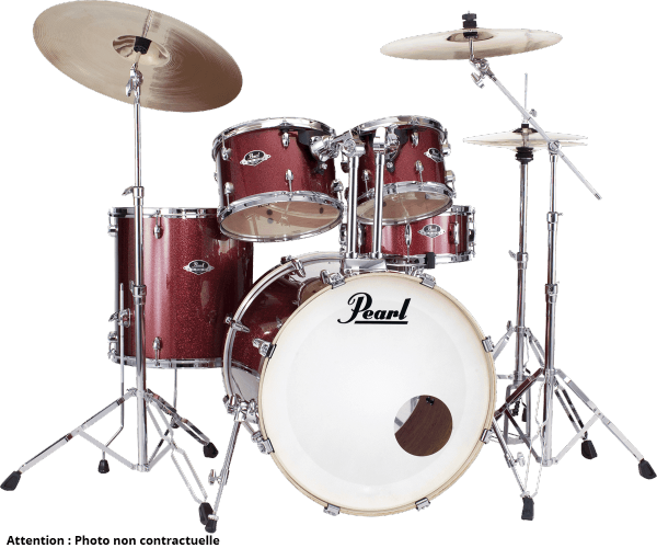 Rock drum kit Pearl Export Rock 22 - 5 shells - Black cherry glitter
