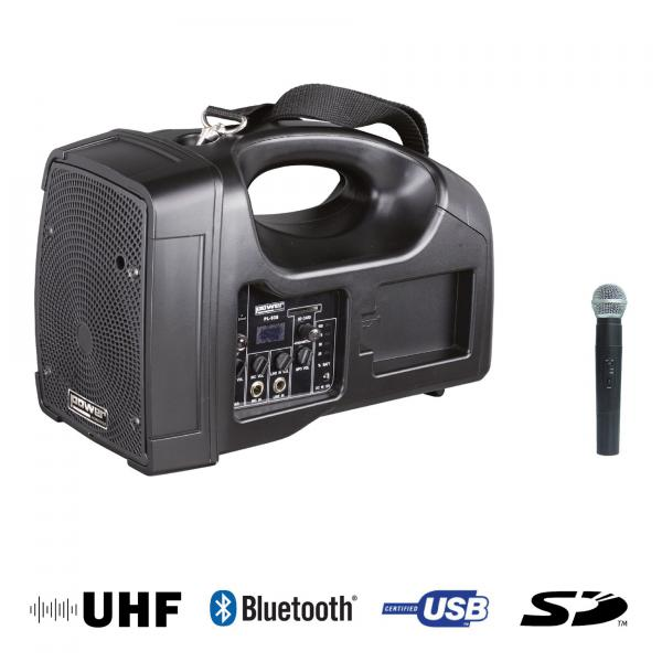 Portable pa system Power acoustics Be 1400 UHF