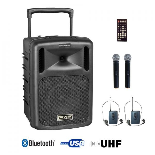 Portable pa system Power acoustics Be 9208 Uhf Pt Abs