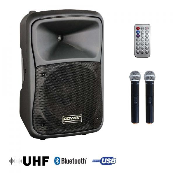 Portable pa system Power acoustics BE 9519 Uhf Media