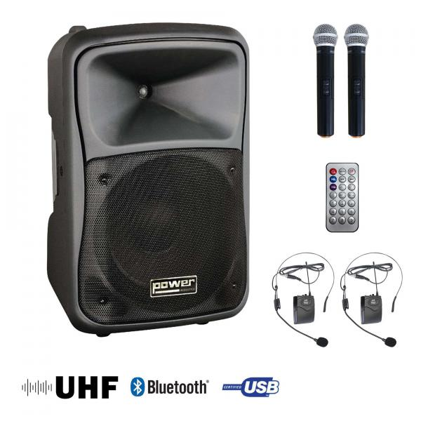 Portable pa system Power acoustics BE 9700 Uhf Pt Media