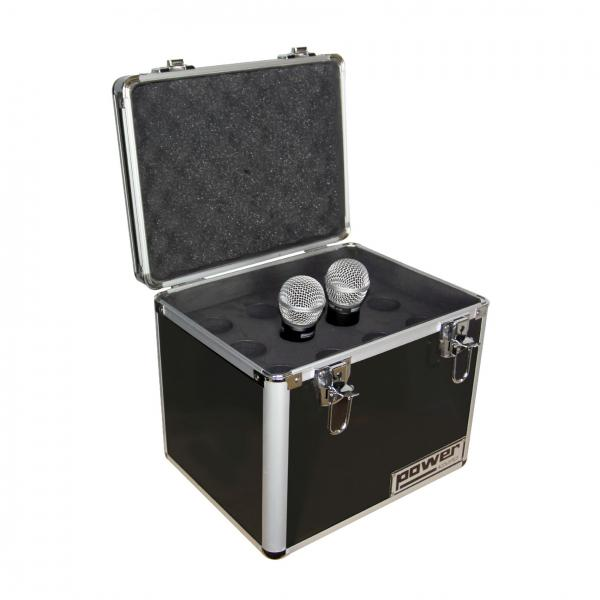 Flightcase for microphone Power acoustics Valise rangement micro BL