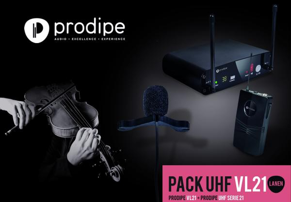 Wireless microphone for instrument  Prodipe Pack UHF VL21 Violons & Altos