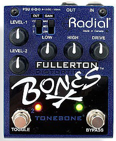 Overdrive, distortion & fuzz effect pedal Radial Tonebone Bones Fullerton Distorsion
