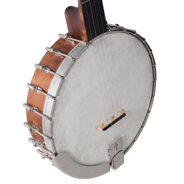 Banjo Recording king RK-OT25-BR Madison Open Back Scooped Fretboard - brown satin