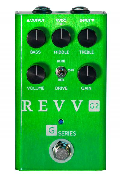 Overdrive, distortion & fuzz effect pedal Revv G2 OVERDRIVE