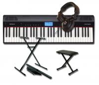 Keyboard set Roland GO:Piano 61P + STAND + BANQUETTE + CASQUE