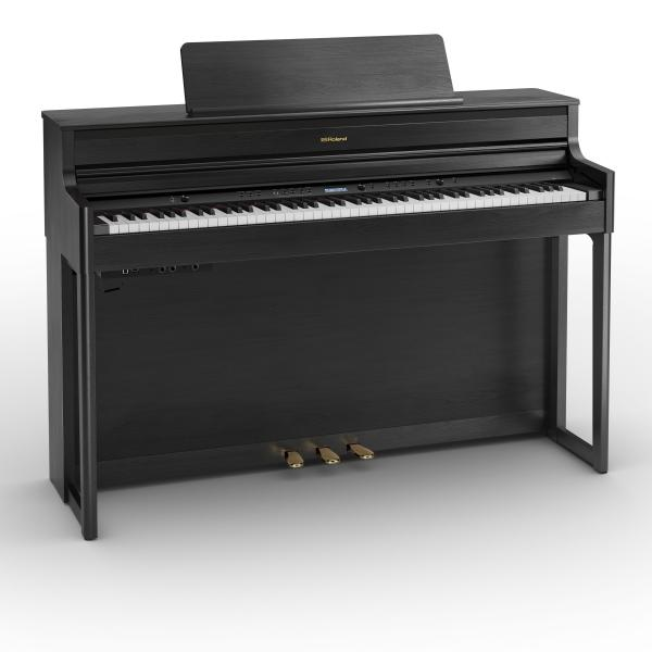 Digital piano with stand Roland HP704 CH - Noir mat