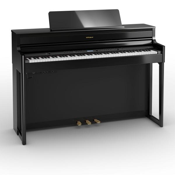 Digital piano with stand Roland HP704 PE - Noir laqué