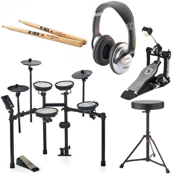 Electronic drum kit & set Roland TD-1DMK + PEDALE STAGG PP-52 + SIEGE STAGG DT22 + CASQUE STAGG SHP 2300H + BAGUETTES VIC FIRTH