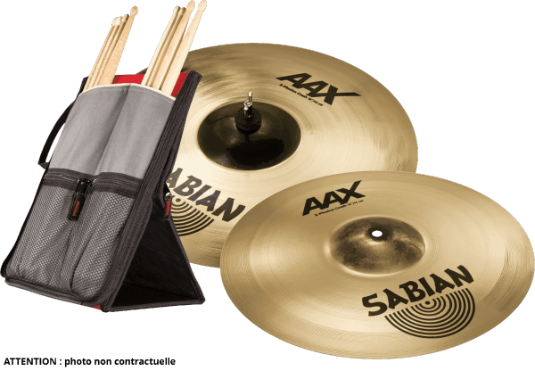 Cymbals set Sabian PACK CRASH XPLOSION 16 + 18 + STICKFLIP GIGBAG