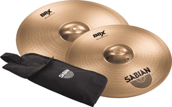 Cymbals set Sabian PACK THIN CRASH 16 + 18 + STICKS GIGBAG