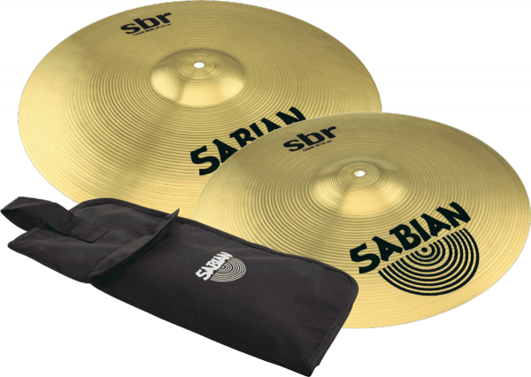 Cymbals set Sabian SBR50061 Crash Pack + stickbag