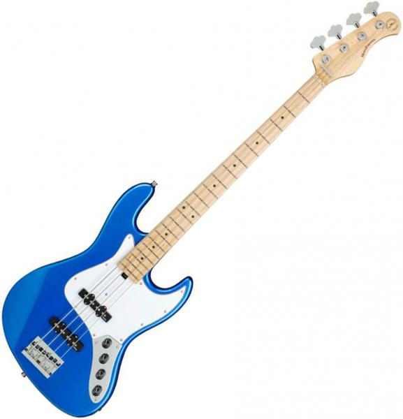 Solid body electric bass Sadowsky MetroExpress 21-Fret Vintage J/J Bass 4 (MN) - Ocean blue metallic