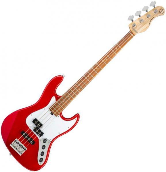 Solid body electric bass Sadowsky MetroExpress 21-Fret Hybrid P/J Bass 4 (MOR) - Candy apple red metallic
