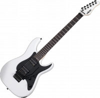 Solid body electric guitar Schecter Sun Valley Super Shredder FR - white