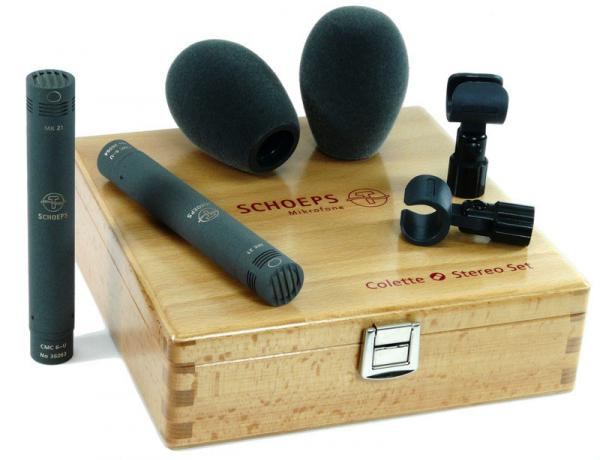 Wired microphones set Schoeps Stereo set CMC 64