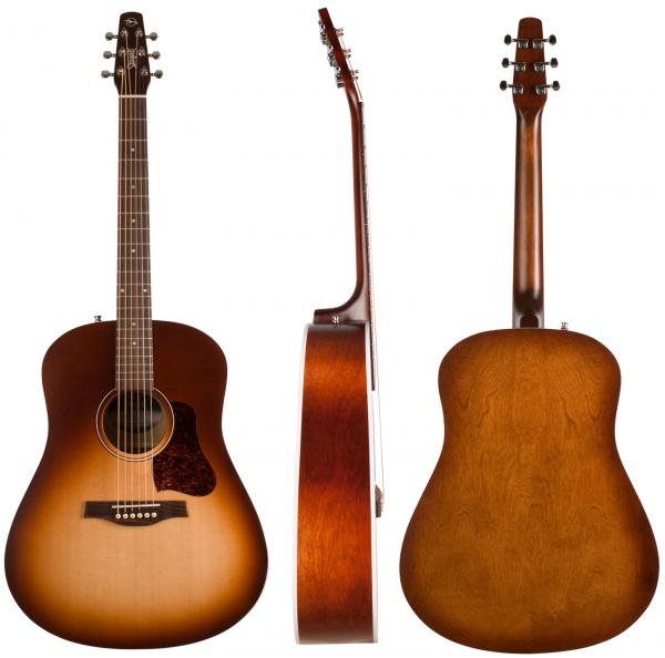 Acoustic guitar & electro Seagull Entourage +Bag - autumn burst