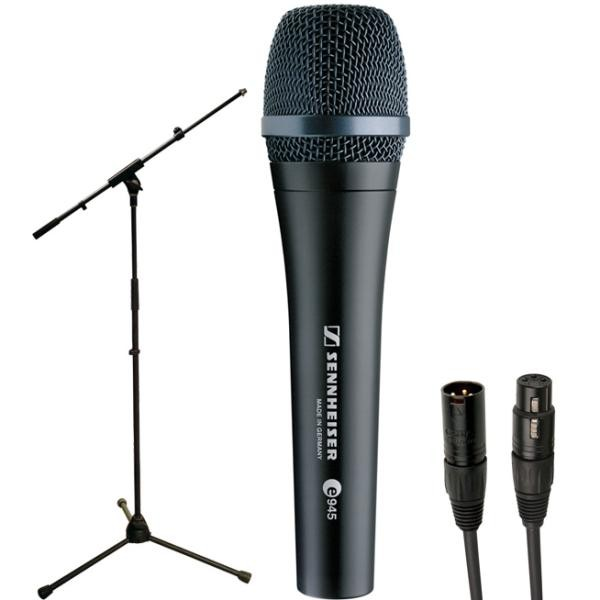 Microphone pack with stand Sennheiser Pack E945 + Pied perche + Câble