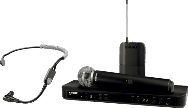 Wireless handheld microphone Shure BLX1288E-SM35-M17